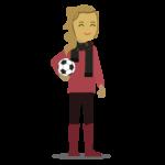Jako první, zde máme Sharlu – online prodejce kravských přátelských fotbalových míčů.