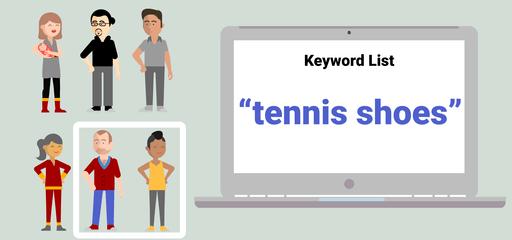 Klíčové slovo tenisové boty - frázová shoda