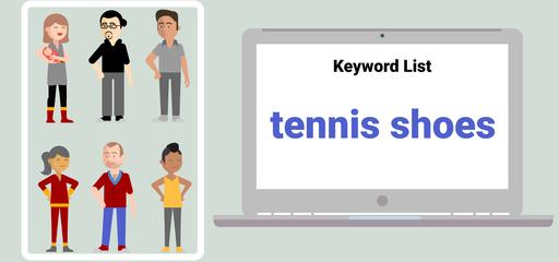 Klíčové slovo tenisové boty - volná shoda